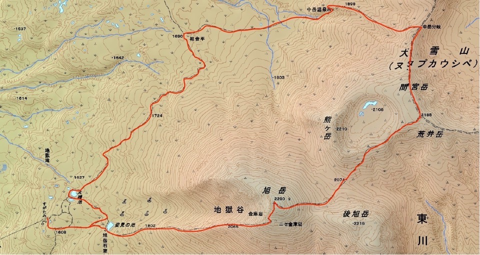 Asahidake map